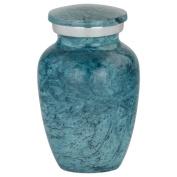 Silverlight Urns Aqua Harbour Keepsake Urn, Miniature Urn for Ashes, Tiny Aluminium Urn, 7.6cm Tall