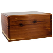 Cove Cedar Cremation Urn, Simple Wooden Box Urn for Ashes, Adult Size