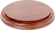 Plymor Brand Solid Walnut Round Wood Display Base with Ogee Edge, .190cm H x 16cm D