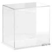 Plymor Brand Clear Acrylic Display Case with Clear Base (Mirror Back), 23cm W x 15cm D x 23cm H