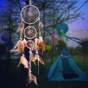 Dream Catcher - Wall Hanging Handmade Traditional String Natural Colour Home Decor by Hooyl