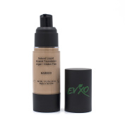 Natural Coverage Liquid Mineral Foundation Makeup - Organic Ingredients, Gluten-Free, Vegan, Cruelty-Free