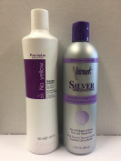 Fanola no yellow shampoo 350 ml and Jhirmack Brightening silver Agelessconditioner 355 ml For Blonde hair