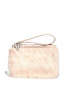 GUESS Factory Girl's Furry Wristlet