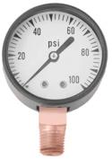 Simmons 1307 Pressure Gauge, 0-45kg, 2 in Dial, 1/8 in MPT, Steel