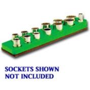 Mechanics Time Saver 718 3/8 in. Dr Magnetic Neon Green Socket Holder 5.5-22mm