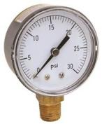 WATER PRESSURE GAUGE 0 TO 30 PSI, 7.6cm . FACE