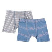 KicKee Pants Little Boys Boxer Briefs Set, Boy Parisian Stripe & Parisian Skyline, 2T-3T