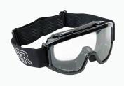 Raider YOUTH Goggles - Black - Motocross ATV MX - Single Lens - Adjustable Strap