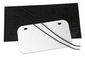 ATV - Wisconsin LEGAL Licence Plate Kit - White with black decal kit