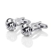Zodaca Silver/Twist Men Cufflinks Business Shirt Cuff Link Links Stainless Steel Gift