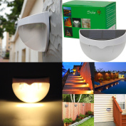 Zimtown 6-LED Solar Powered Garden Security Light Outdoor Fence Wall Lamp Waterproof