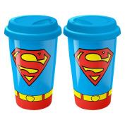 SUPERMAN COSTUME TRAVEL MUG
