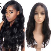 YAEONS Hair 360 Lace Frontal Wig Pre Plcuked 180% Density Grade 7A Brazilian Virgin Hair Body Wave Human Hair Full Lace Wigs With Baby Hair Natural HairLine 20cm