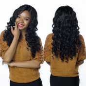 GEM Beauty Brazilian Remy Human Hair Lace Wigs Loose Wave 360 Half Lace Front Wig With Baby Hair Pre Plucked Glueless Adjustable Natural Black