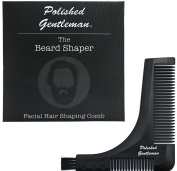 Beard Comb and Moustache Styler - Style Your Beard and Groom It - Trim Your Beard and Goatee Perfectly With Exact Edges - Use with a Trimmer or Razor to Shape Your Facial Hair