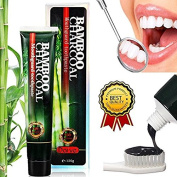 Bamboo Activated Charcoal Toothpaste, Highest quality ingredients, Natural Bamboo Charcoal, Enamel-safe, Whiten Teeth Naturally 120g