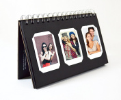 Golden State Art, Instax Frames Collection, Black Photo Album Book style 60 Pocket for Fuijufilm Instax Mini 7S 8 70 90 25 50S 8+ Film