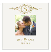 Personalised Wedding Anniversary Gifts Photo Album Book with Initial Holds 200 4x6 Photo