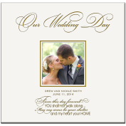 Personalised Wedding Photo Albums Our Wedding Day Holds 200 4x6 Photos Custom Made Wedding Anniversary Gifts By Dayspring Milestones