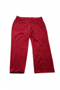 Karen Scott Plus Size Red Velour Sweatpants 2X