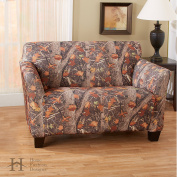 Kings Camo Woodland Shadow Printed Strapless Slipcover. Form Fit, Slip Resistant, Stylish Furniture Shield / Protector. By Home Fashion Designs Brand.