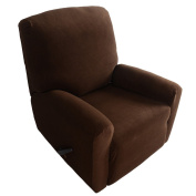 Anself Elastic Soft Polyester Spandex One Seater Recliner Cover