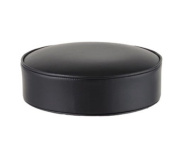 Barstool Replacement Seat Cushion - Heavy Duty Fabric Backed Black Vinyl Stool Seat- 4 Pack~Black