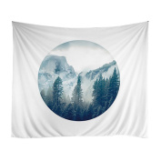 Xinhuaya Sunset Forest Ocean and Mountains Wall Hanging Tapestry with Romantic Pictures Art Nature Home Decorations for Living Room Bedroom Dorm Decor in 130cm x 150cm