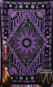 Purple Celestial Sun and Moon Tapestry Planet Bohemian Tapestry Wall Hanging Boho Tapestry /Hippie Hippy Tapestry Beach Coverlet Curtain by Jaipur handloom