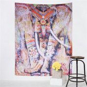 Sleepwish Watercolour Elephant Tapestry Psychedelic Bohemian Tapestries Wall Hanging Decor Indian Home Hippie Bohemian Tapestry for Dorms
