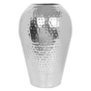 Hosley's 25cm High Hammered Iron Floor Vase. Ideal wedding Gift, decor, aromatherapy or spa settings