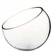 CYS® Plant Terrarium Half Cut Slant Bowl Vase. H-18cm , Body-20cm
