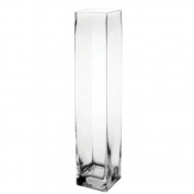Flower/Bud Glass Vase Decorative Centrepiece, Home or Wedding by Royal Imports - 23cm x 5.1cm , Clear