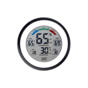 EWTTO Digital Thermometer Humidity Indoor Humidity Monitor and Temperature Gauge for Humidor Metre with Touchscreen LCD Display