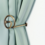 Curtain Holdbacks Window Decorative Hook Draperies Metal Set of 2 Bronze