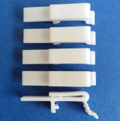 Vertical Blind Dust Cover Valance Clip Holder Bracket, 6 Pack