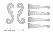 Perfect Shutters 20-2004---01 Decorative Vinyl Shutter Hinges and S Holdback Hooks For Exterior Decorative Shutters, White (Set),
