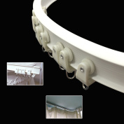 SuperMMarK 3m Silent Curved Curtain Orbit Balcony & Window Flexible Bendable Track Top Mounting