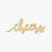 Cheers Pen Script Wood Sign Home Party Wedding Rustic Décor Wall Art Unfinished 30cm x 10cm