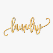 Laundry Wood Sign Home Décor Wall Art Unfinished 46cm x 15cm