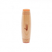 WANG Mokuru Kururin Desktop Rolling Stick Toy Beech Wood Kururin With Orange Silicone Pads