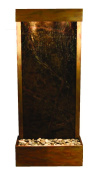 Harmony River Water Feature with Rustic Copper Trim, Flush Mounted in Base