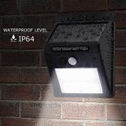 YRD TECH 20 LED Solar Power PIR Motion Sensor Wall Light Outdoor Garden Waterproof Lamp