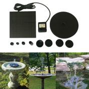 YRD TECH Floating Solar Powered Pond Garden Water Pump Fountain Kit Bird Bath Fish Tank