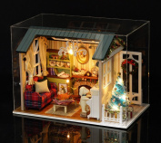 Flever Dollhouse Miniature DIY House Kit Creative Room With Furniture for Romantic Gift