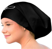 Lahtak ™ Extra Large Swimming Cap - Stylish, Waterproof Silicone Swim Hat for Long Hair Women & Men| Designed for Thick, Curly or Dreadlocks Hair | Suits Recreational Swimmers
