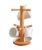 PENGFEI Kitchen shelf Coffee cup holder Solid wood creative Storage rack, 14.1 * 30.9cm strong and sturdy