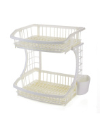 PENGFEI Kitchen shelf 2 layer Bowl tray plastic Storage rack, 3 colours are available strong and sturdy