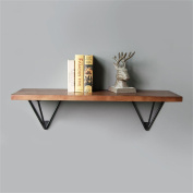 TRRE@ Iron solid wood wall racks, Nordic retro industrial wind A word partition living room bedroom simple wall hanging decoration Shelf Accessories